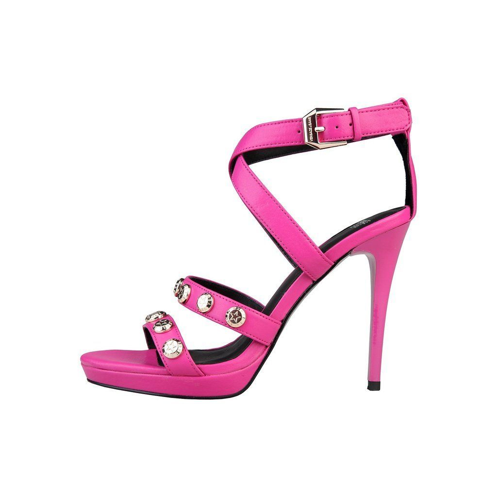 Versace Jeans Women Sandals Pink | Strappy high heels