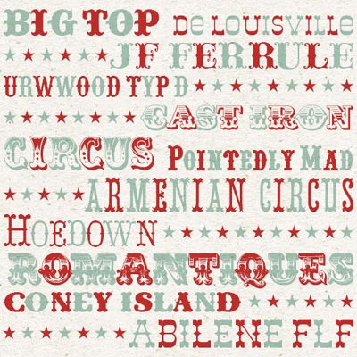 font of the week: fonts from the big top