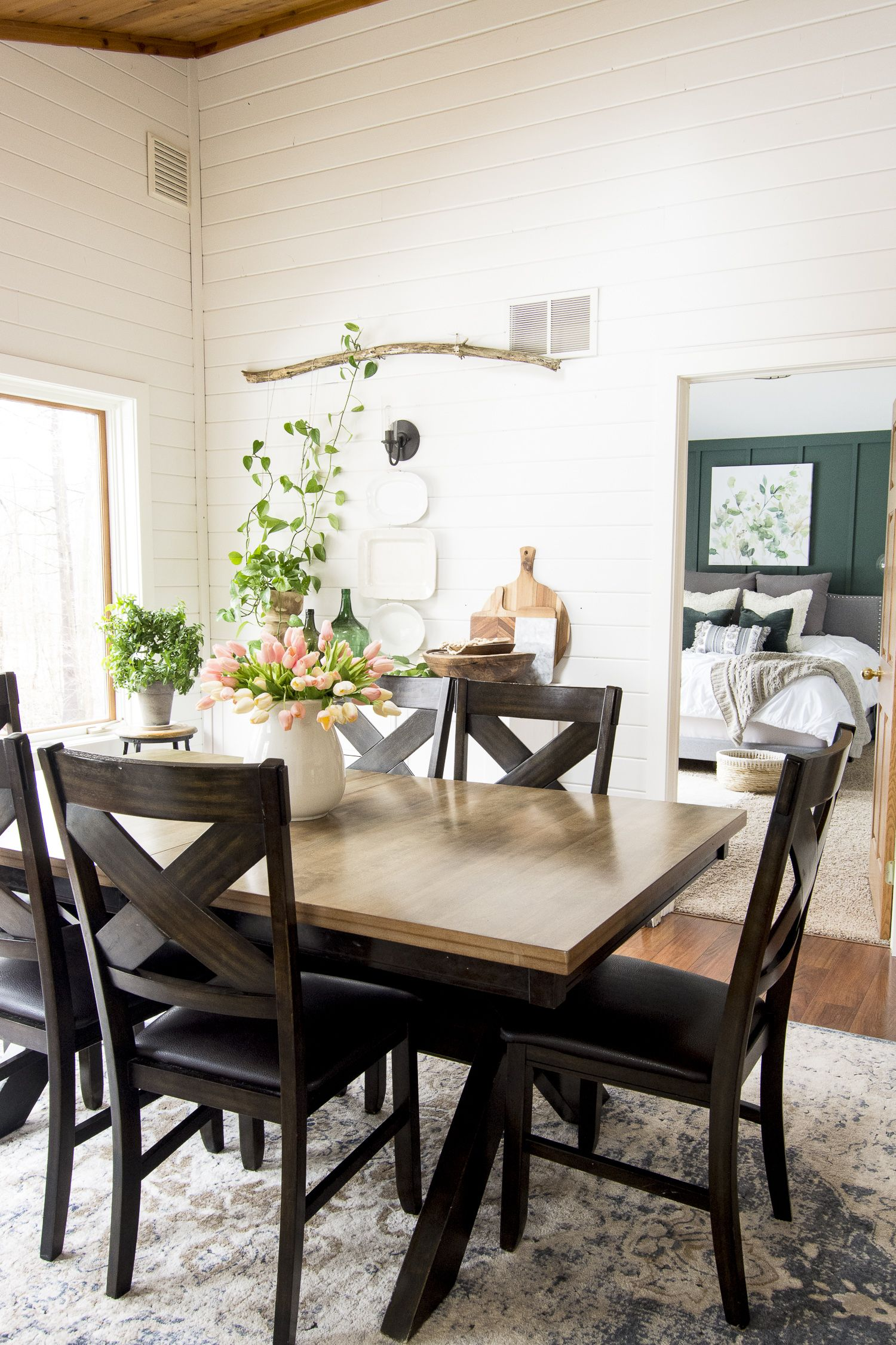spring vintage farmhouse decor with a boho twist with images dining room remodel dining on boho chic dining room kitchen dining tables id=45204