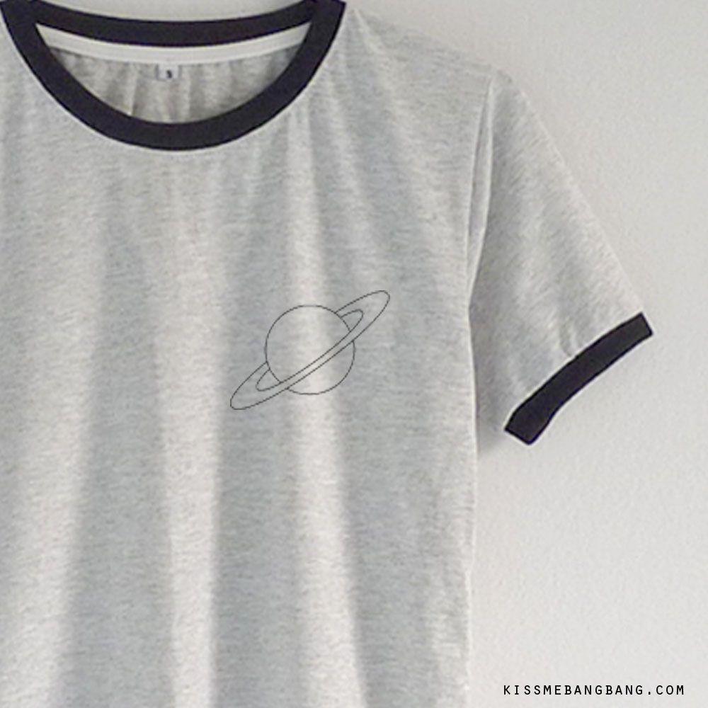 3ac55cdc67aa32 Saturn Ringer Tee  13.99   Saturn Shirt   Graphic    Tumblr    Hipster Teen  Fashion KISSMEBANGBANG.COM