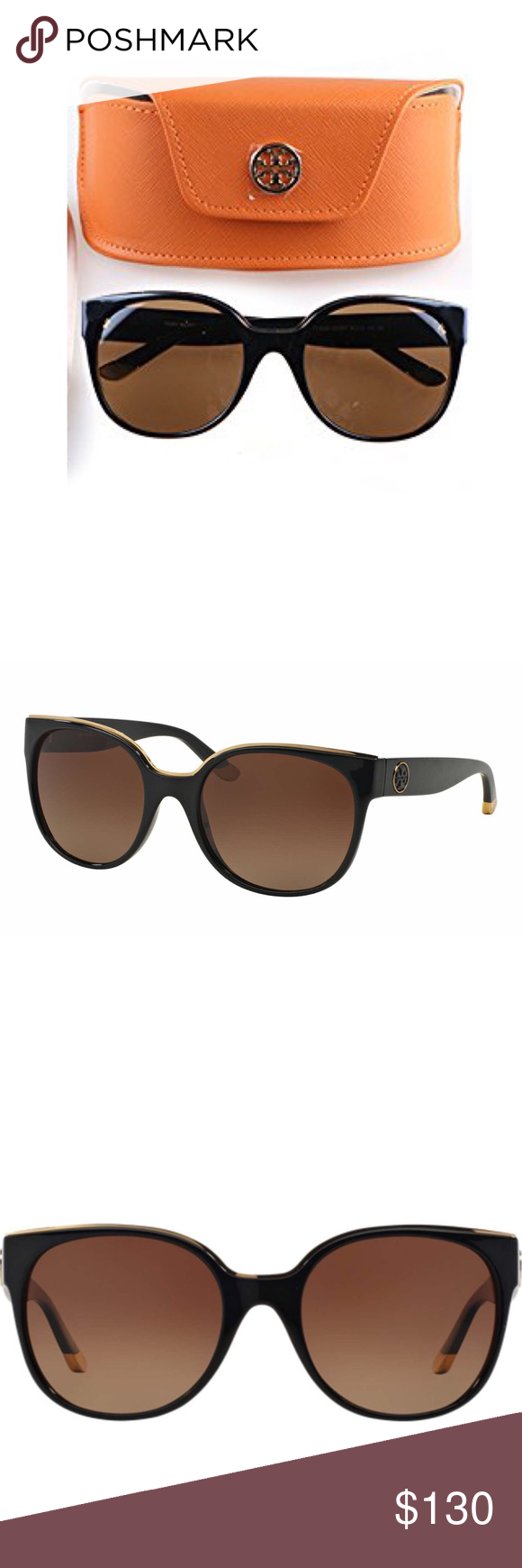 741f661bd3 Tory Burch Sunglasses Tory Burch TY9042 Sunglasses in black. Lenses  Brown  Gradient Polarized.