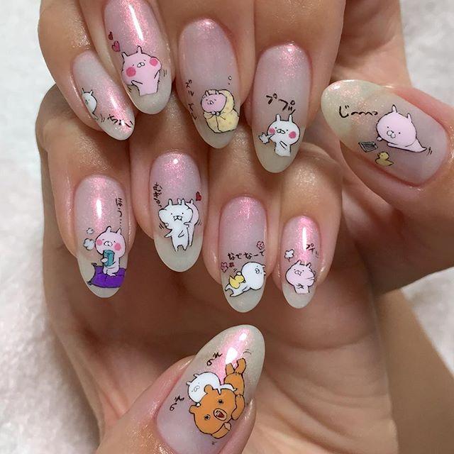 nail nails nailart character ネイル キャラクターネイル キャラネイル