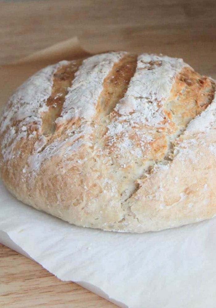 Easy Artisan Bread (No Kneading Required)   Somewhat ...