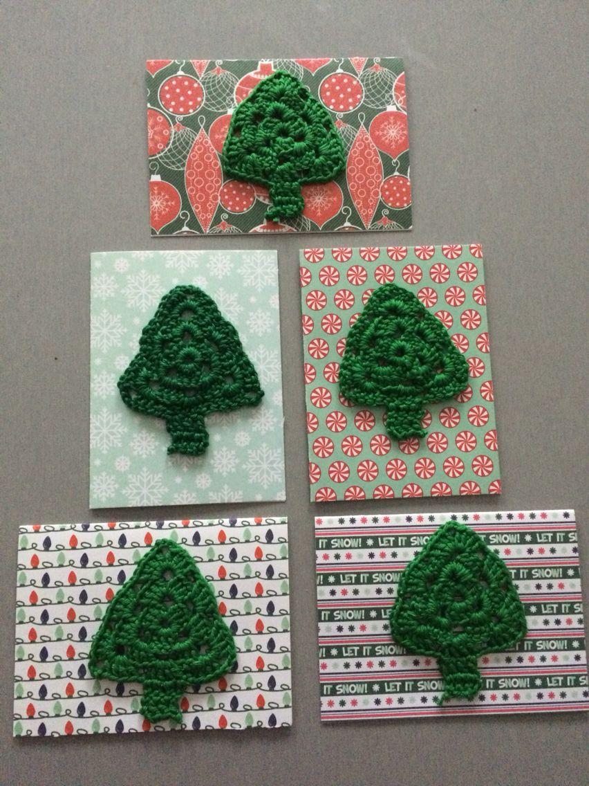 Kerstboom Haken Voor Op Kerstkaarten Kerstkaarten