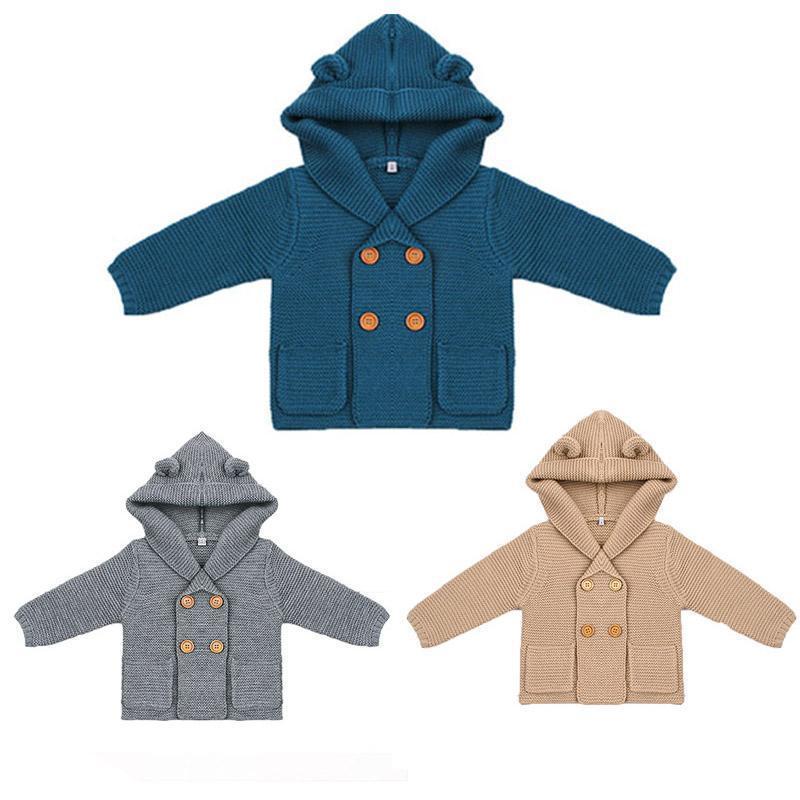 9b91ef03c193 Baby Boy Knitting Cardigan 2017 Winter Warm Newborn Infant Sweaters ...