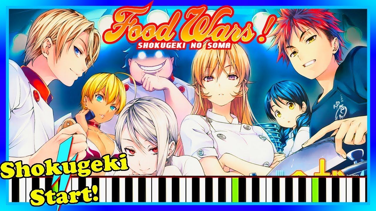 Shokugeki Start! Food Wars OST Piano Cover Tutorial