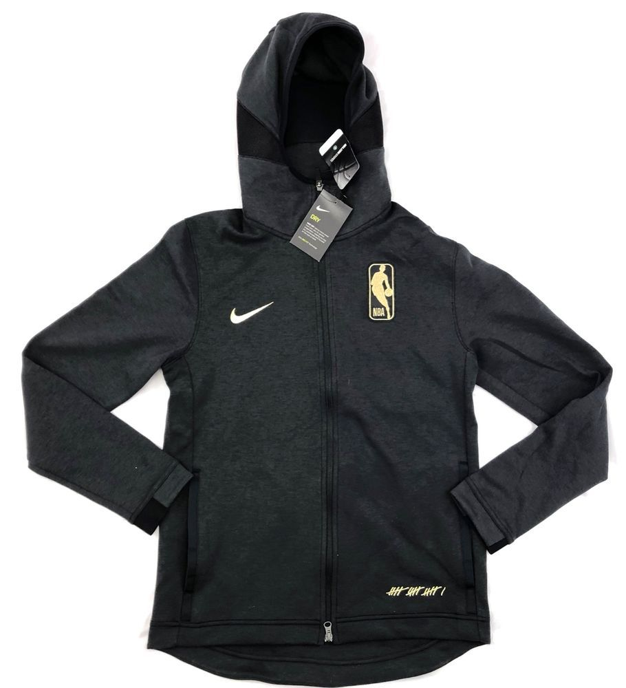 d4437ae5aee0 Nike NBA Finals The Association Dry Showtime Hoodie Black Gold ...