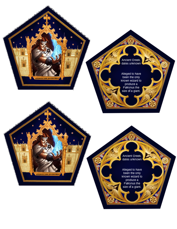 Photo of Here are the Chocolate Frog Cards! They took a long time to make, but they were …