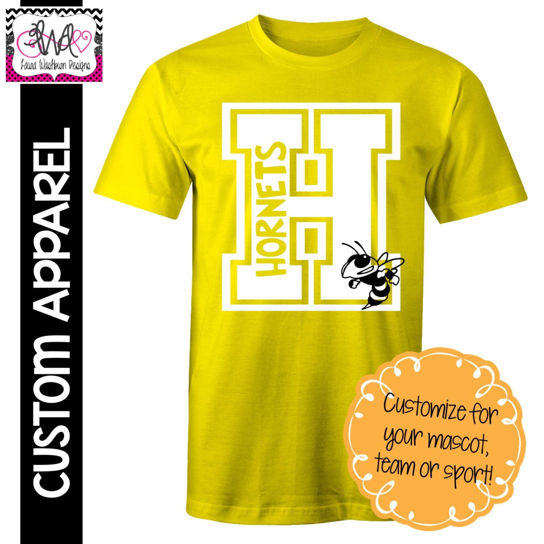 Custom Apparel Custom Block Letter School Spirit TShirt By