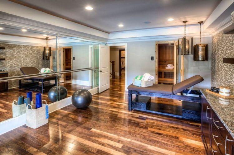 10 home yoga studio designs youll love basement gym pinterest