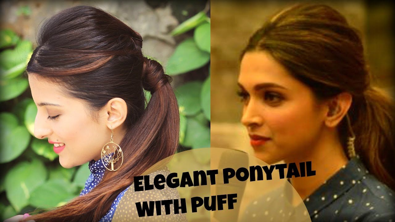 EASY Everyday Elegant Ponytail Hairstyle With Full Puff ...