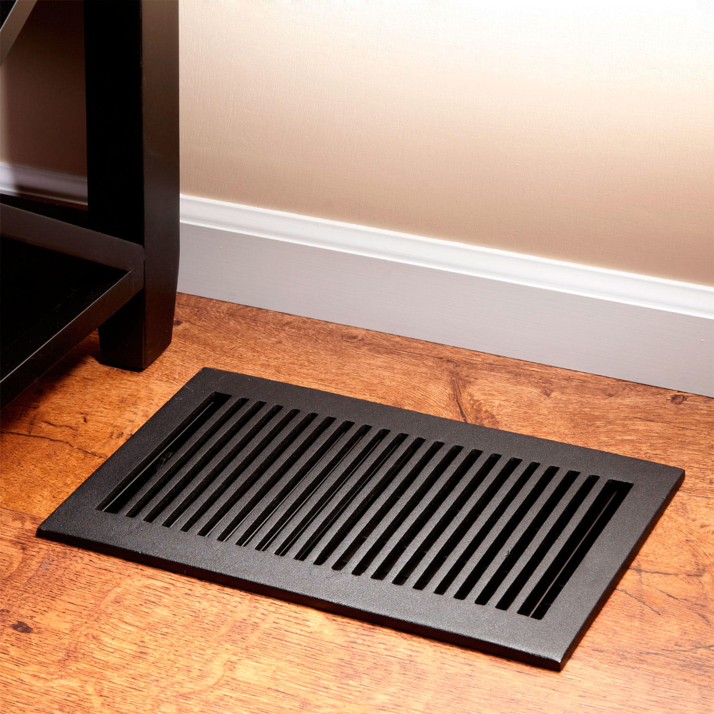 A Sleek Design Makes The Modern Floor Register Ideal For Any Home Featuring Removable Louvers This P In 2020 Floor Registers Simple Bathroom Decor Classic Home Decor