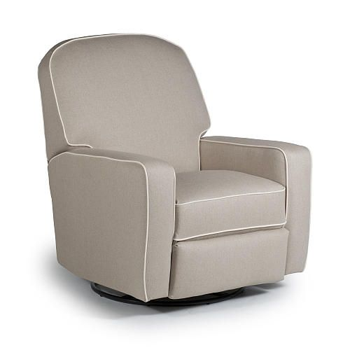 Blain Swivel Glider Recliner With Contrast Cording