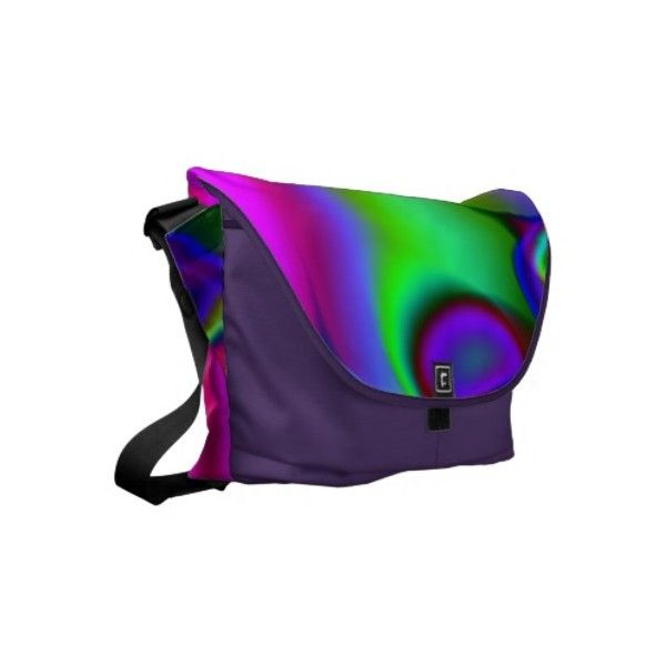 Rainbow Fractal Messenger Bag ($141) ❤ liked on Polyvore featuring bags, messenger bags, messenger bag, rainbow bag, purple bag, courier bag and purple messenger bag