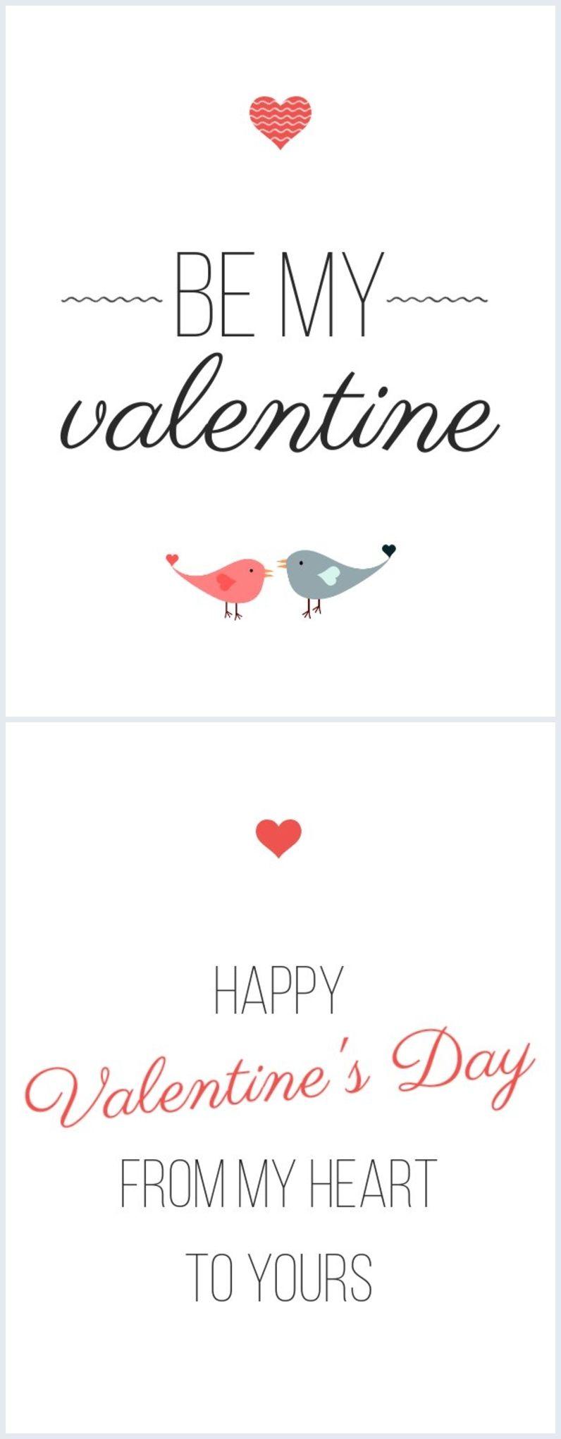 Illustrated Valentine Card Template Valentine Card Template Valentines Cards Valentine Template