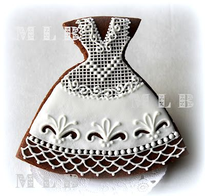 Lacy Bridal Gown Cookie.....