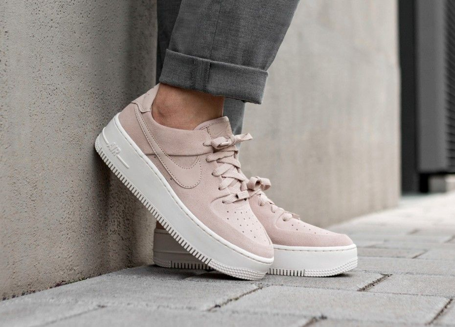 2e4024593 Nike Wmns Air Force 1 Sage Low (Particle Beige / Particle Beige - Phantom)