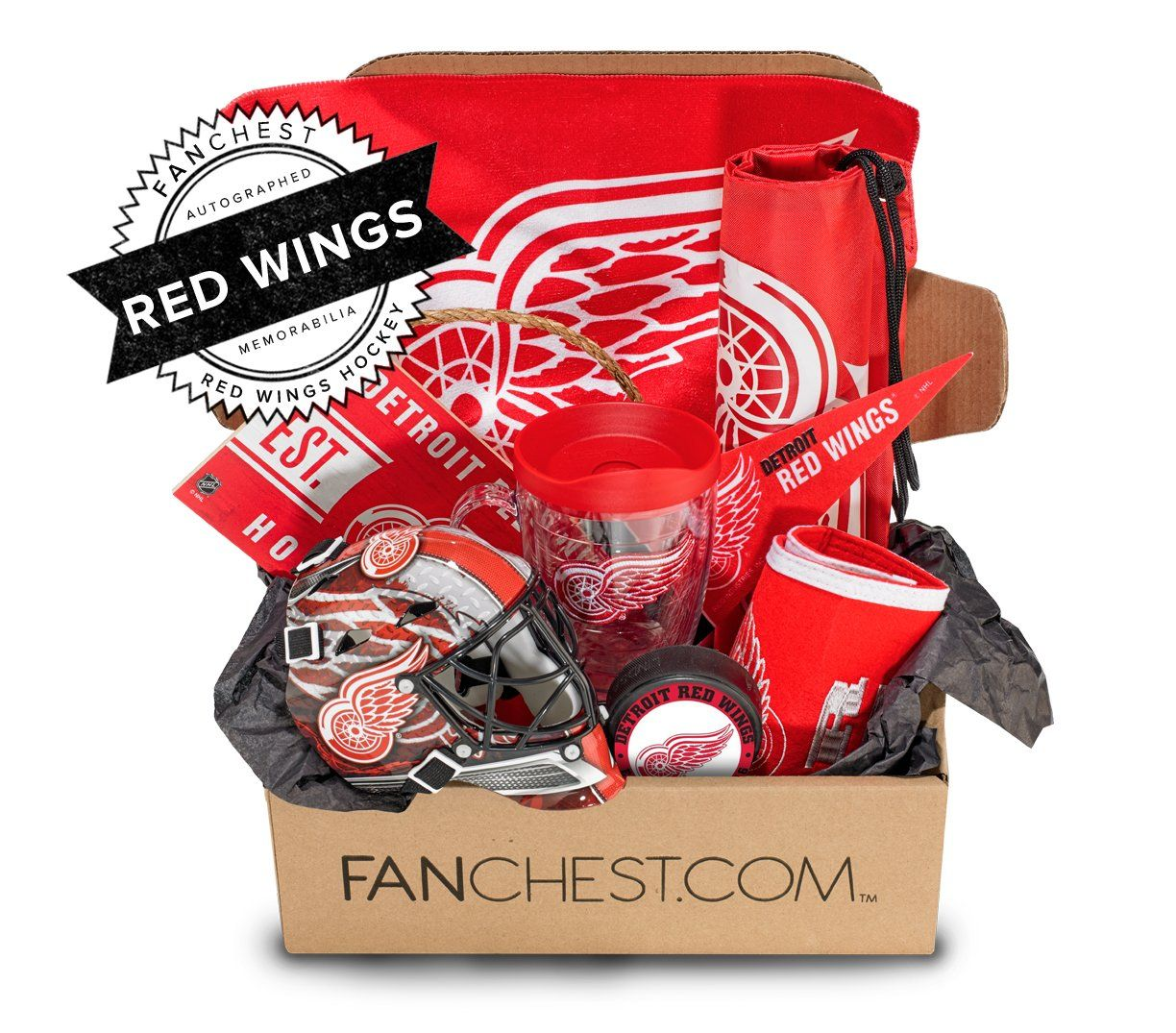 Red Wings Memorabilia Gift Box Signed Red Wings Puck Included Fanchest Wings Gifts Detroit Red Wings Red Wings