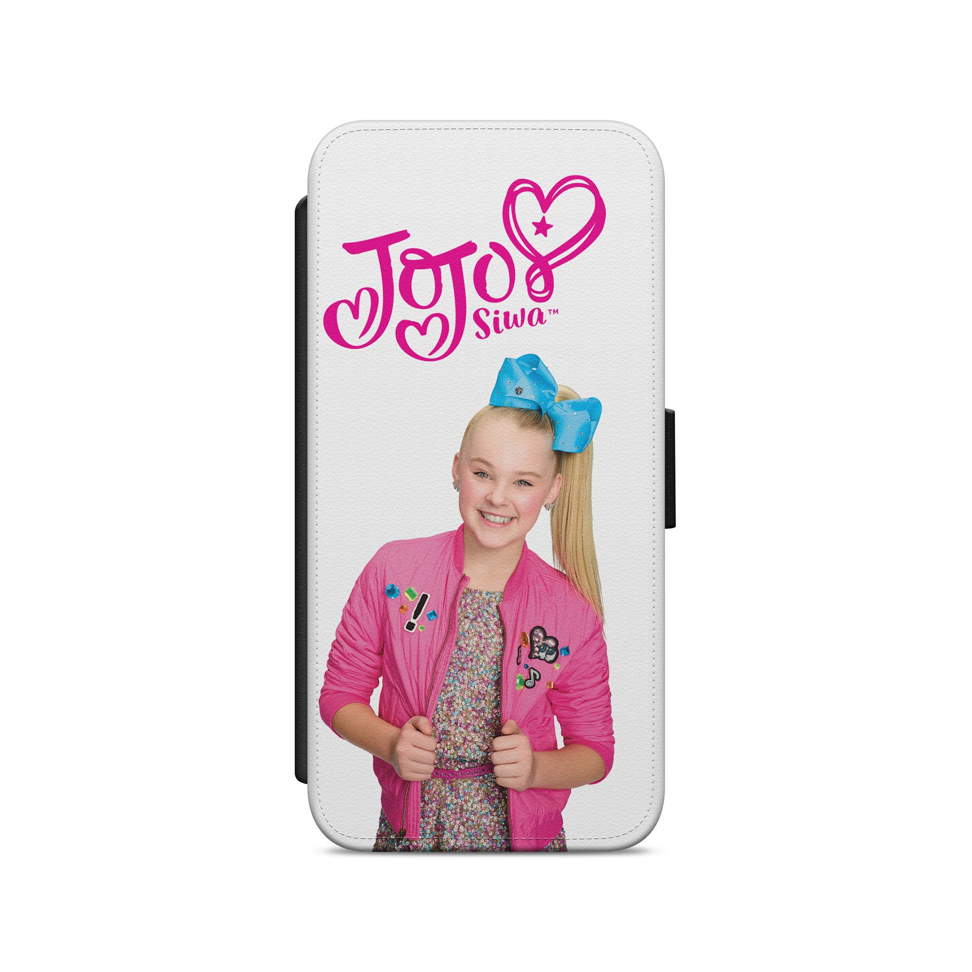 Jojo siwa youtube blogger leather wallet flip phone case