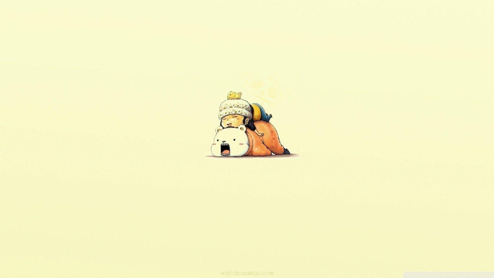 Bepo Law Sleeping Anime Chibi One Piece Hd Wallpaper Desktop Background Sleeping Cute Simple Wallpapers Anime Wallpaper Trafalgar Law Wallpapers