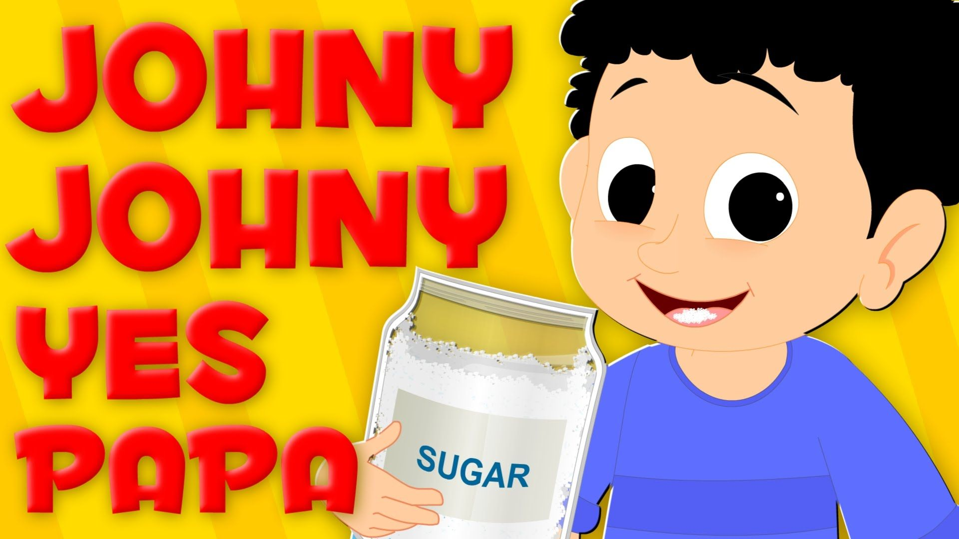 Johny Johny Yes Papa Nursery Rhymes For Baby Kids Songs For Childrens Rhymes For Babies Kids Songs Nursery Rhymes
