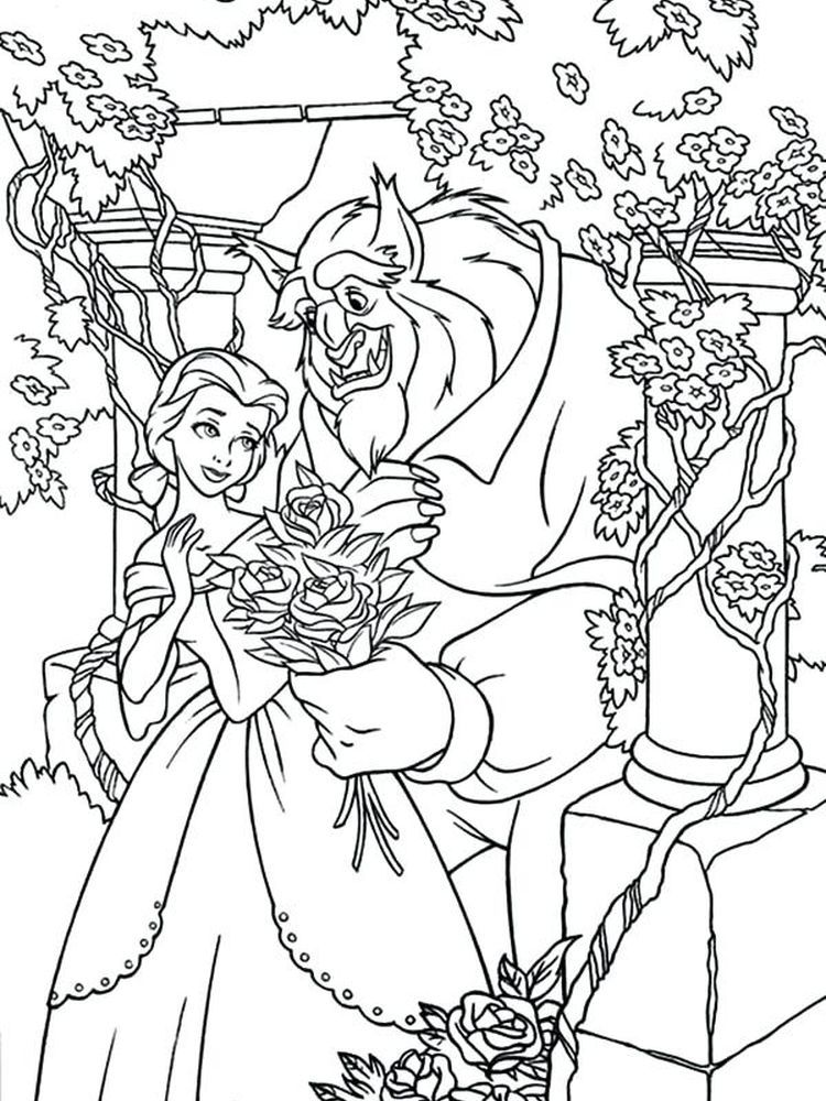 Disneyclips Beauty And The Beast Coloring Pages Below Is A Collection Of Beauty A In 2020 Disney Coloring Pages Princess Coloring Pages Disney Princess Coloring Pages
