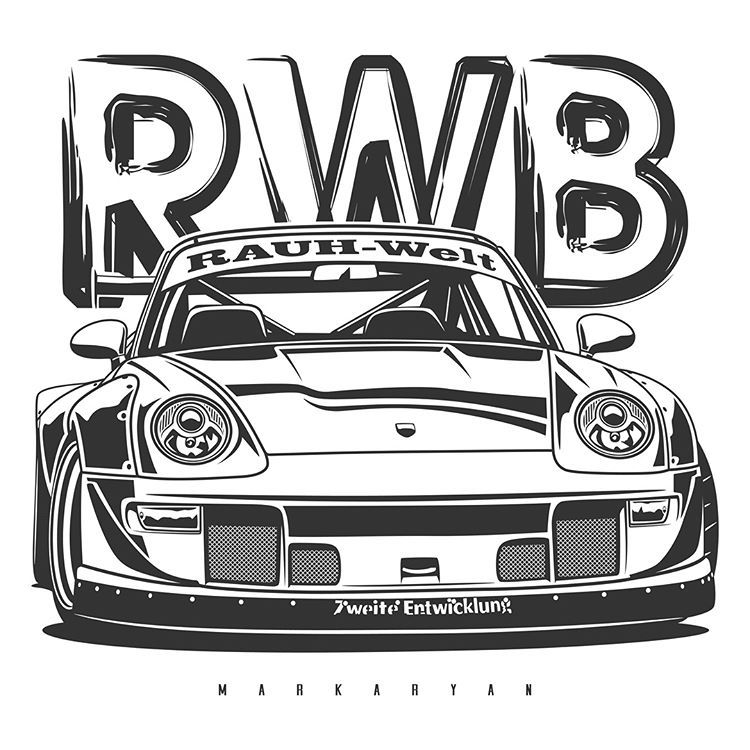 Classic Vw Beetle T Shirts Covers Stickers Posters Already Available In My Store On Redbubble Link In Profile 27 Olegmarkar Car Artwork Art Cars Rwb