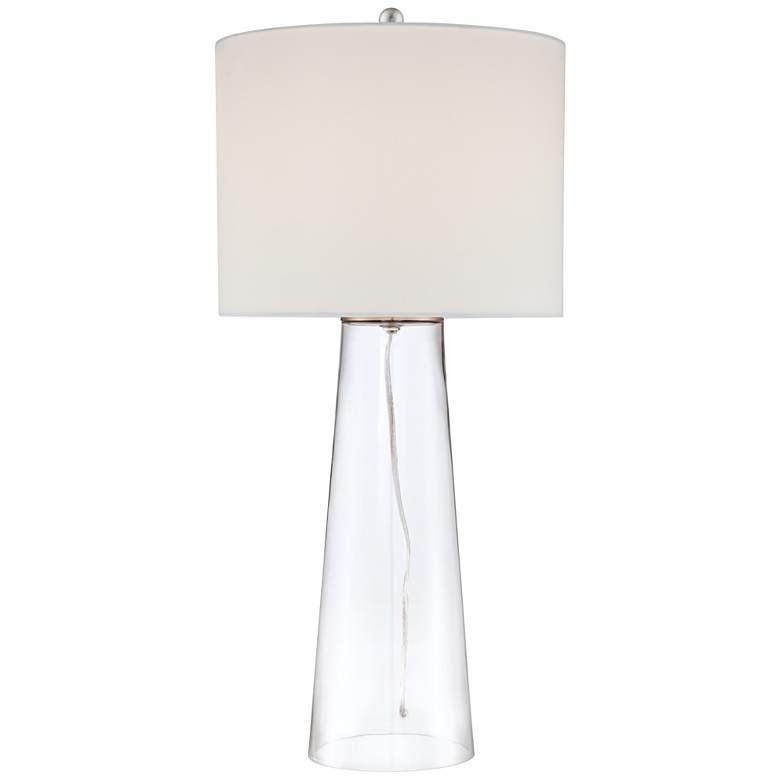 Marcus Clear Glass Tapered Column Table Lamp 8w694 Lamps Plus Table Lamp Clear Glass Lamps Glass Tapers