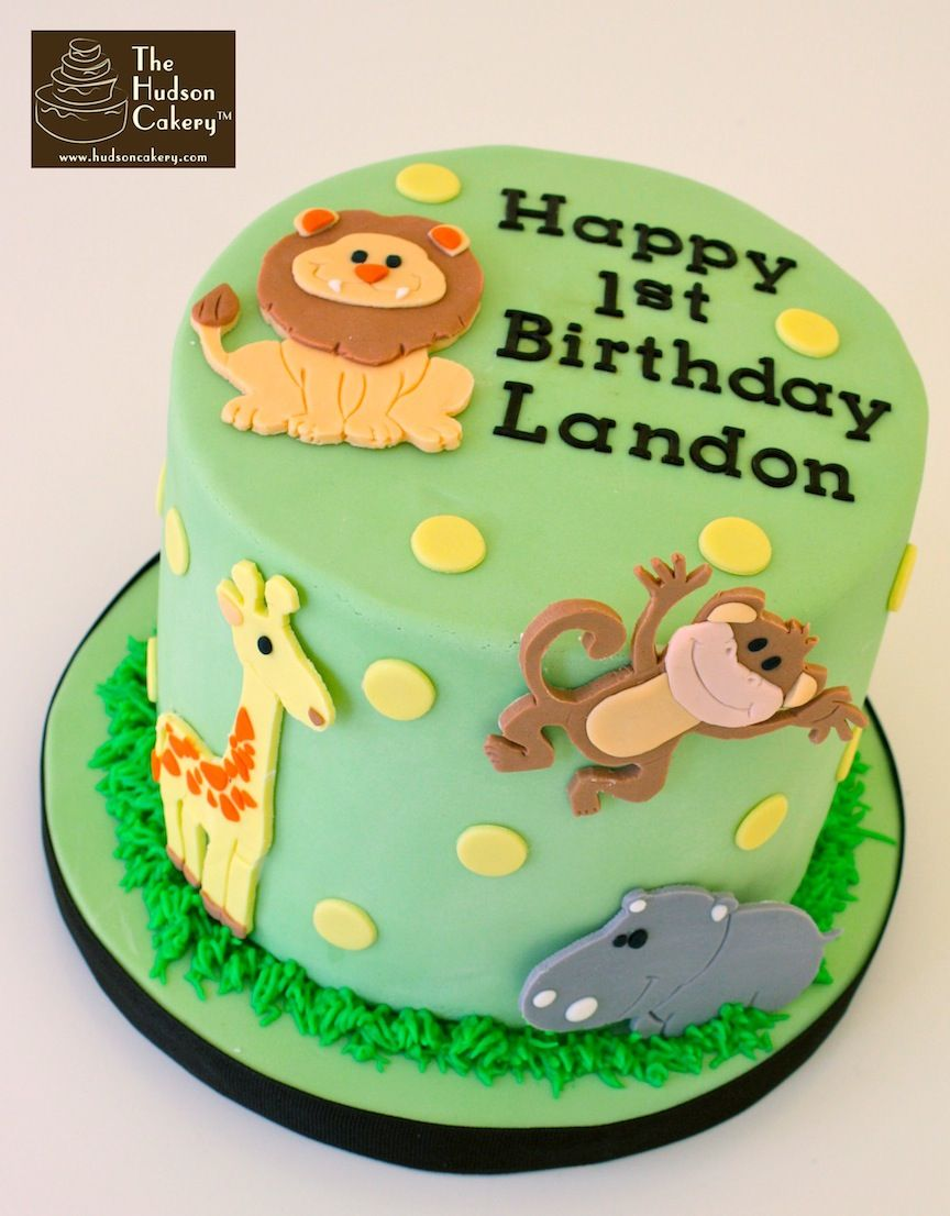 Simple Safari Birthday Like The Flat Animals But Maybe The Lion