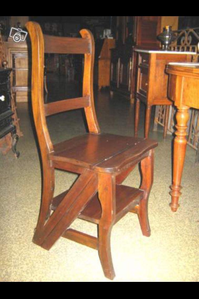 chaise escabeau ferm eureka pinterest escabeaux fermer et chaises. Black Bedroom Furniture Sets. Home Design Ideas