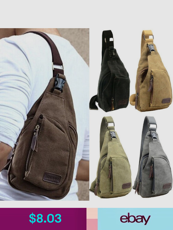 Mens Chest Pack Single Shoulder Sling Strap Bag Crossbody Rucksack Pouch Outdoor