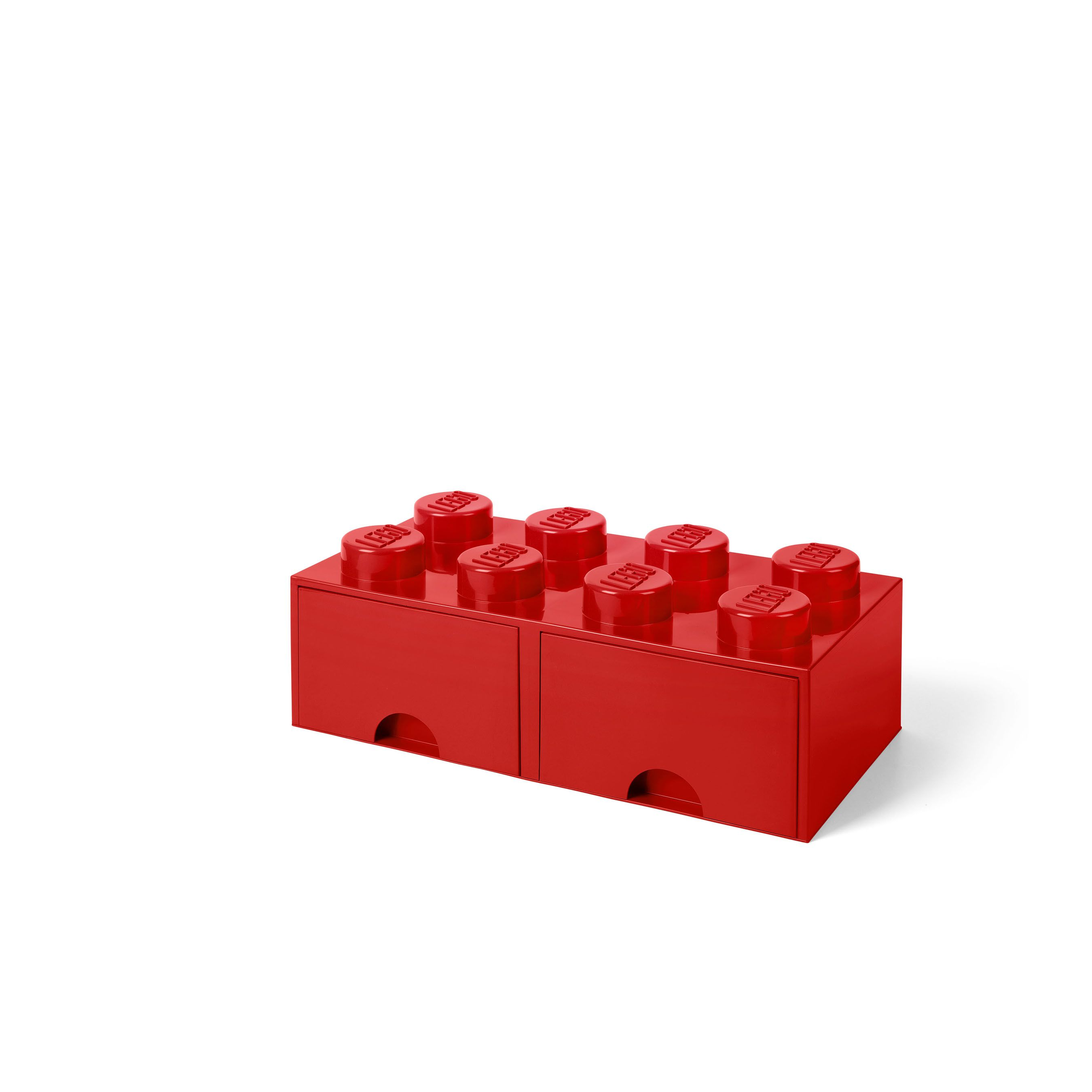 LEGO Storage 8 Brick Toy Box, Bright Red - Walmart.com #legostorage