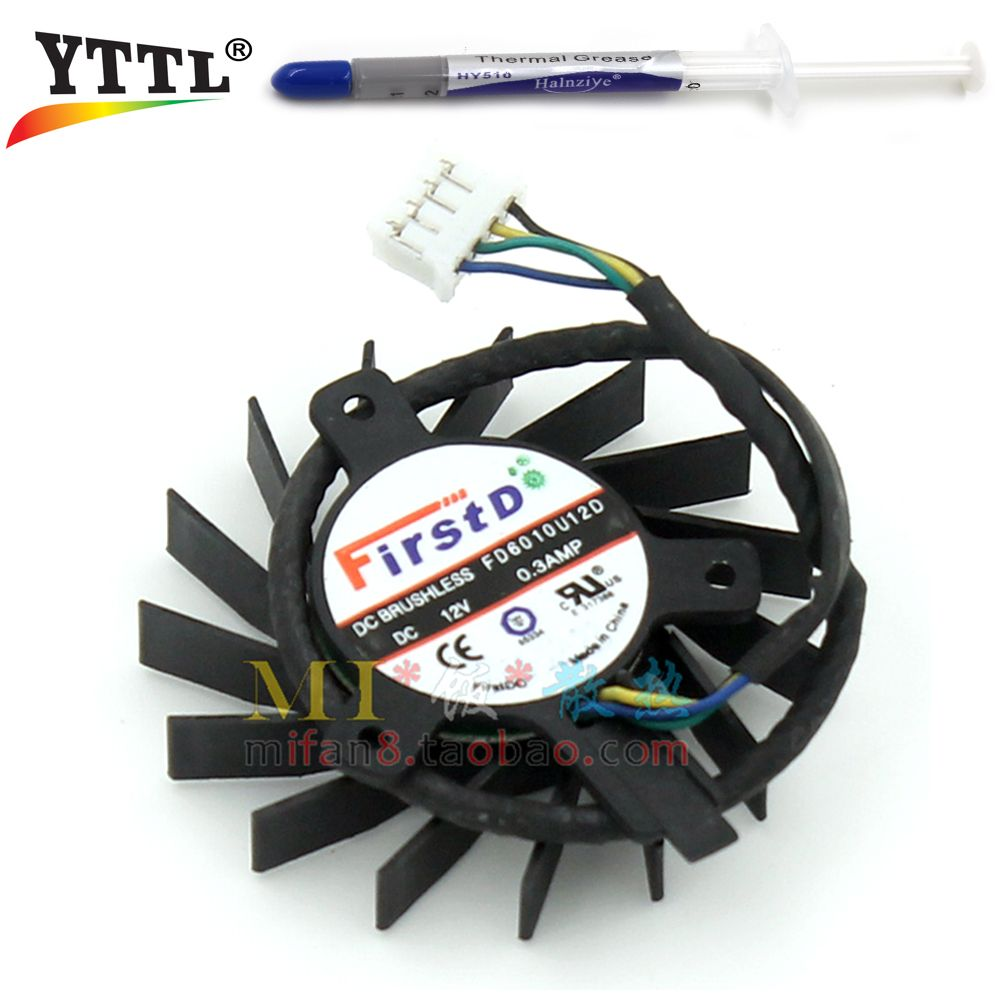 FirstD 44MM FD6010U12D DC 12V 0.3amp 4 Wire 4Pin Cooler Fan ...