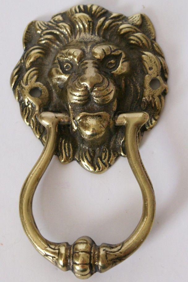 Vintage Brass Lion's Head Door Knocker Peerage England - Vintage Brass Lion's Head Door Knocker Peerage England Best