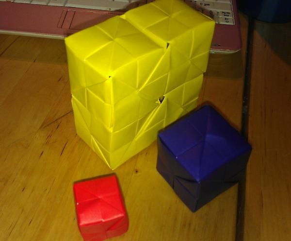 Origami Blocks Busca Do Twitter Origami Cube City Style