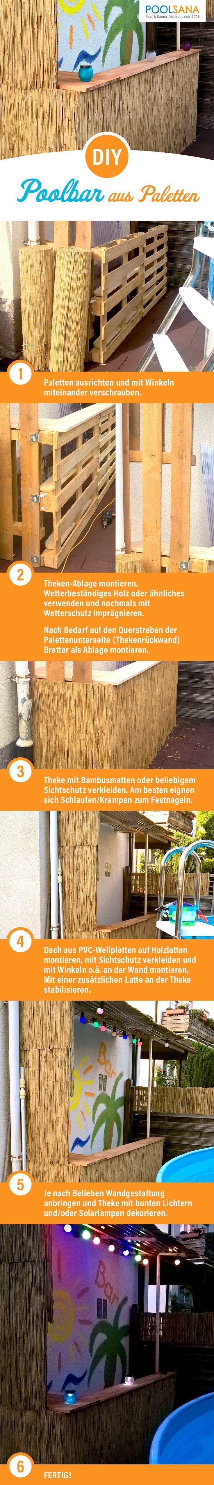 Diy Poolbar Aus Paletten So Bauen Sie Schritt Fur Schritt Einfach Und Kosteng Pool Bar Poolbar Bar Aus Paletten