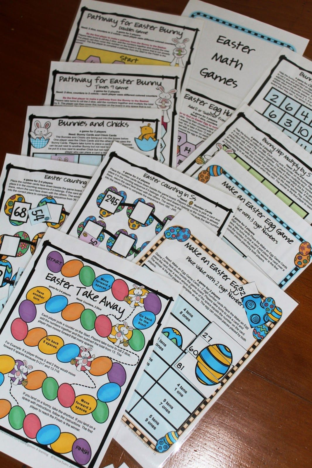 Easter Math Freebies Happy Easter
