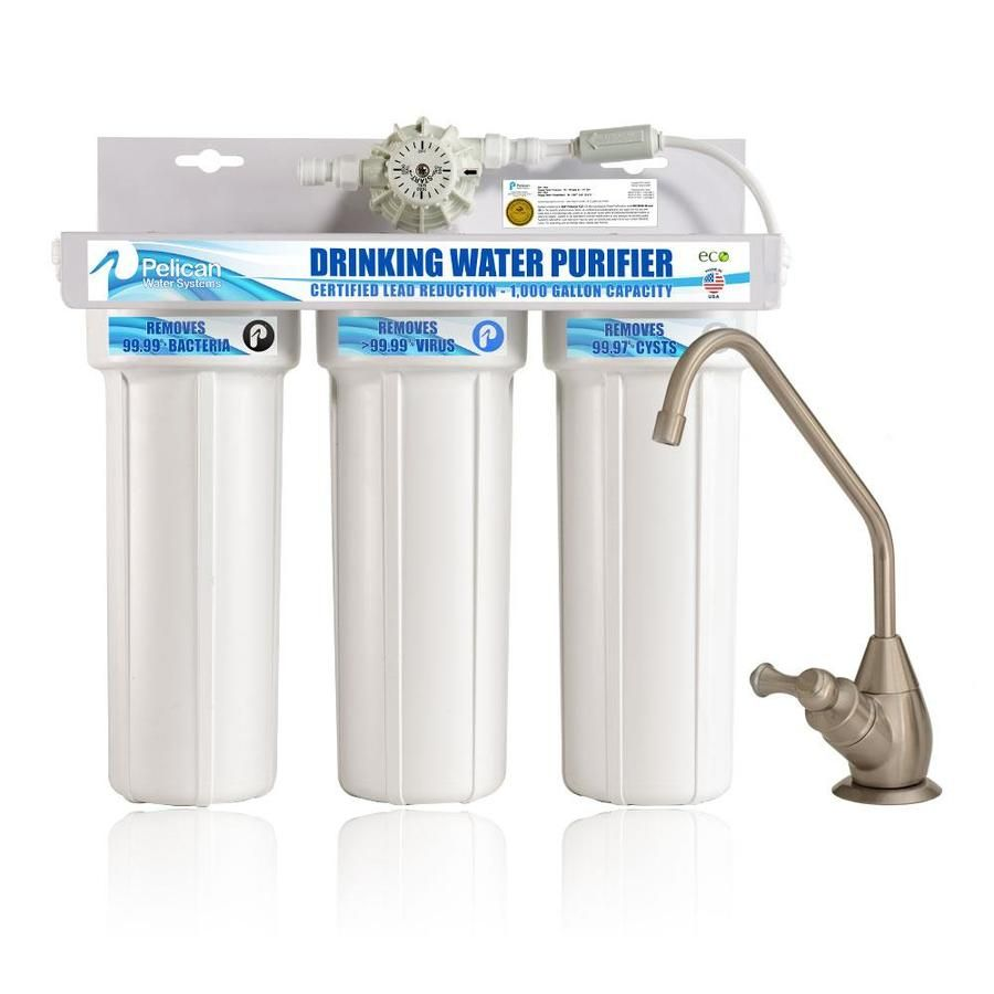 Pelican Water Water Purifier Triple Stage Carbon Block Under Sink Water Filtration System Lws Pdf 1000vf Bn In 2020 Brushed Nickel Faucet Water Filtration System Oil Rubbed Bronze Faucet