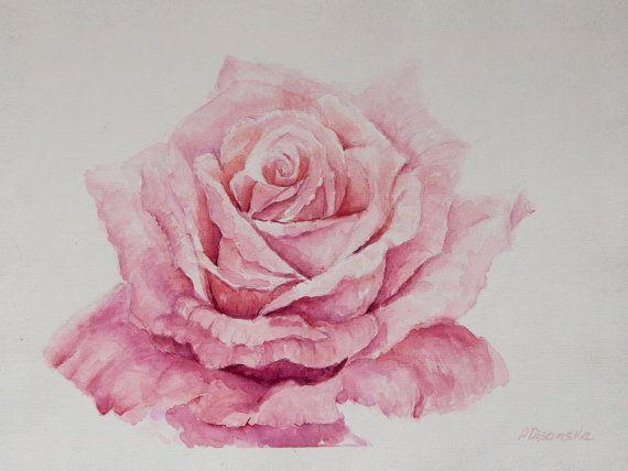 Bouquet De Roses A L Aquarelle Par Valentine Aquarelle Val Tine