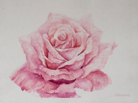 Roses Painting Gift For Wedding Art Bride Gift Rose Watercolor