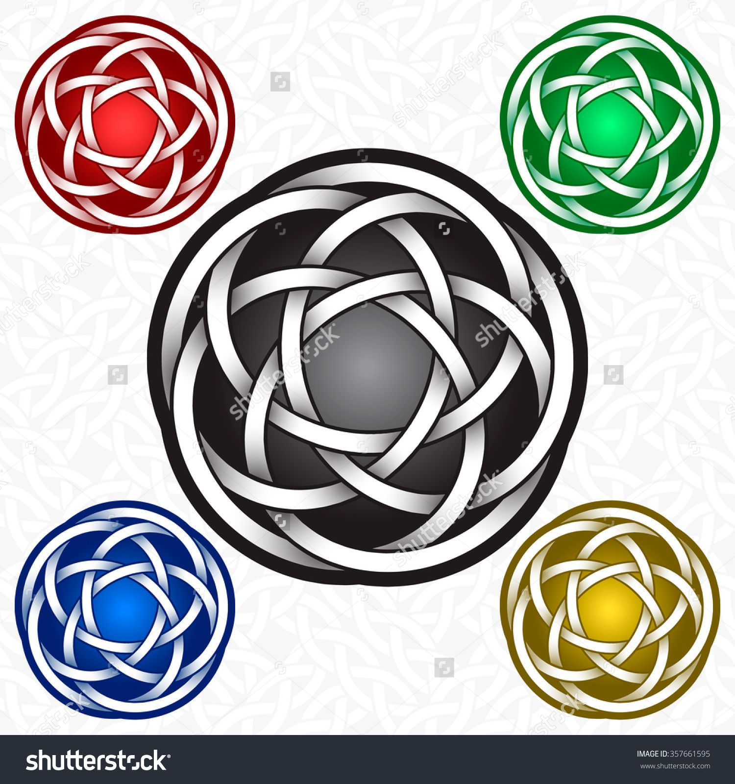 Circular logo template in celtic knots style tribal tattoo circular logo template in celtic knots style silver ornament for jewelry design and samples of other colors buy this stock vector on shutterstock find pronofoot35fo Image collections