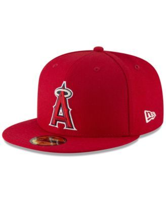 34b9c2d3ad9 New Era Los Angeles Angels Jersey Custom 59FIFTY Fitted Cap - Red 7 ...