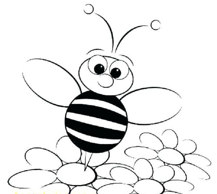 Flower Bee Coloring Pages Bee Coloring Pages Bee Cartoon Images Cartoon Bee