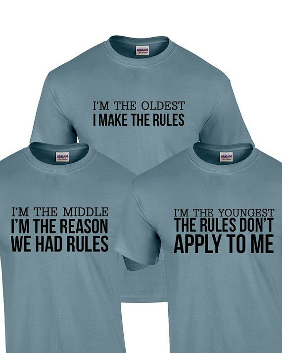 68831fa6bf ADULT Set of 3 Sibling Shirts Funny by DigitalOneGraphicTee | Funny ...