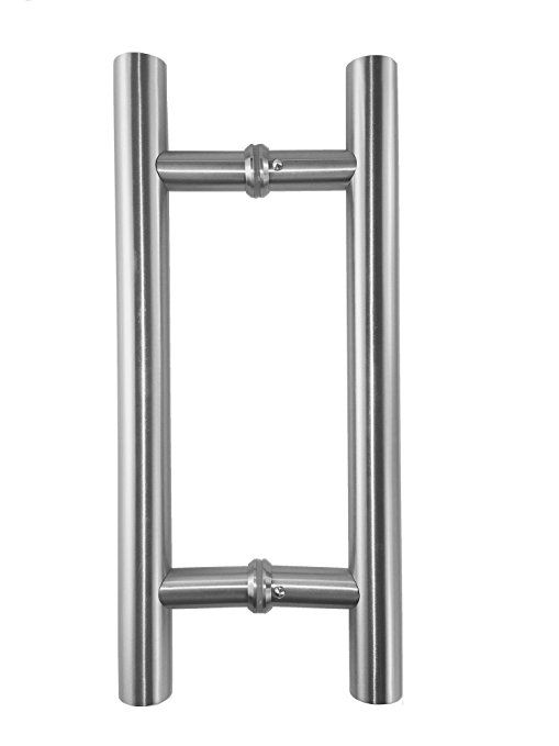 Promotion Vrss 304 Stainless Steel Commercial H Shape Ladder Style Back To Back Push Pull Door Handle 3 Years Door Handles Pocket Door Handles Door Hardware