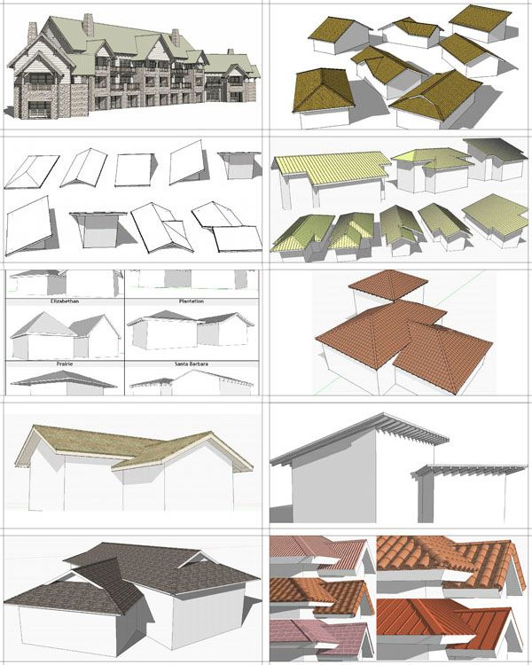 How To Make A Roof In Google Sketchup Architecture Program Autocad Revit Google Sketchup