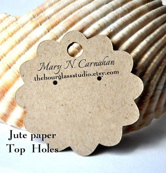 Earring Cards Custom Jewelry Display Personalized Label Hang Tag Printed Flower Shape 2 5x2 5 Inch 45 Via Etsy Tons Of Holder S