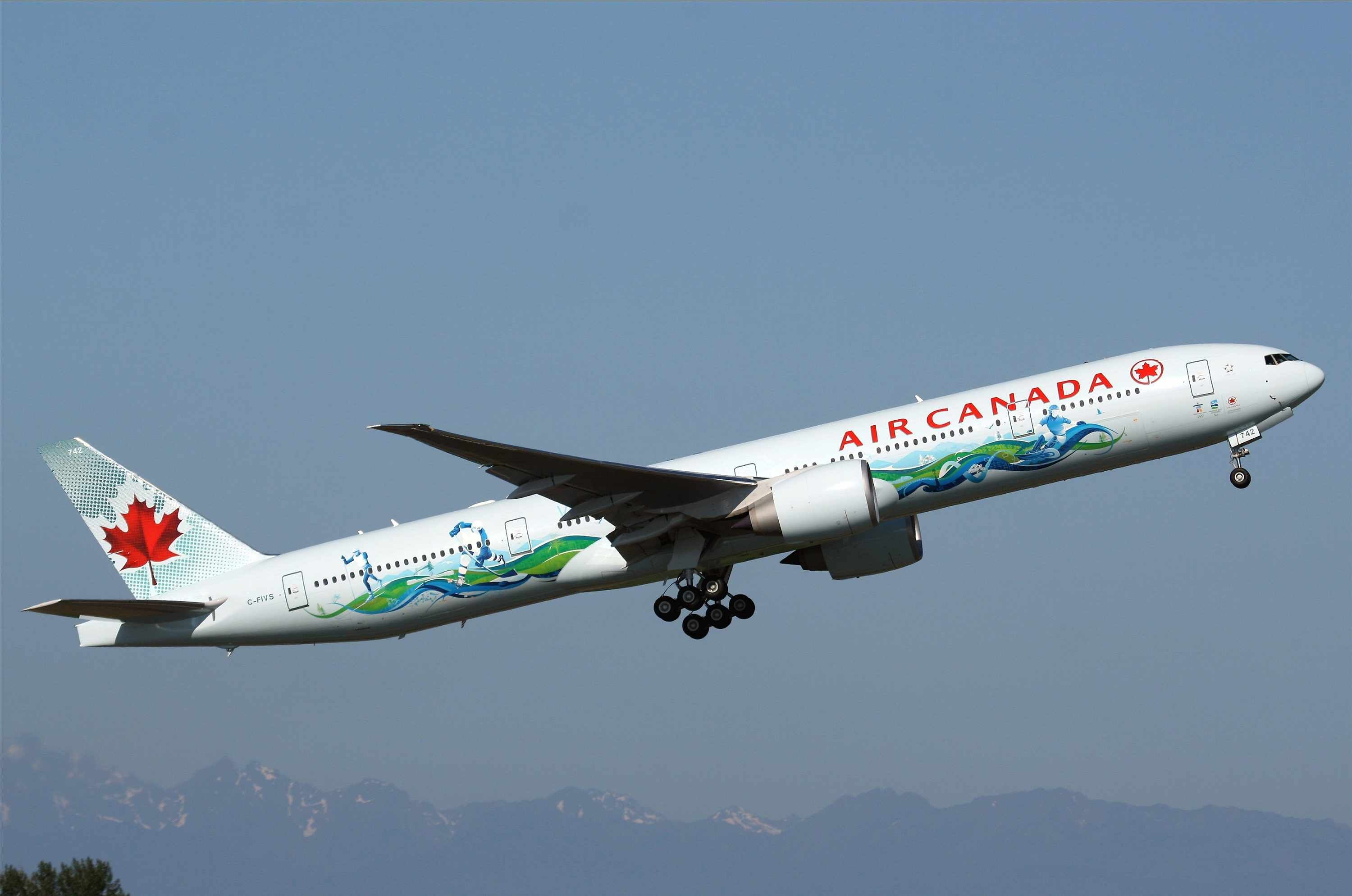 Air Canada, Boeing 777300ER (2010 Winter Olympics livery