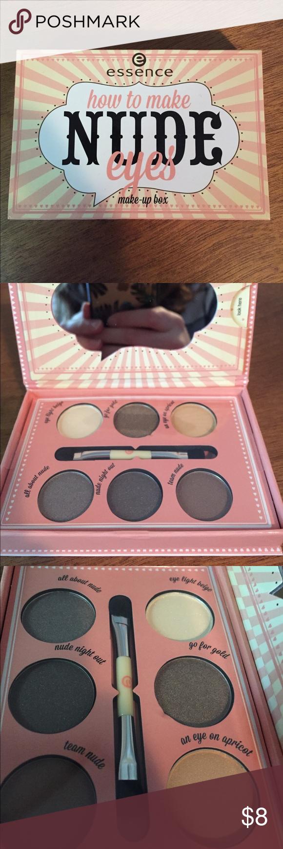 NWOT Essence Nude Eyes palette Sephora • essence • nude eyes • palette • 6 shades • double sided brush (foam side and blending side) Sephora Makeup Eyeshadow