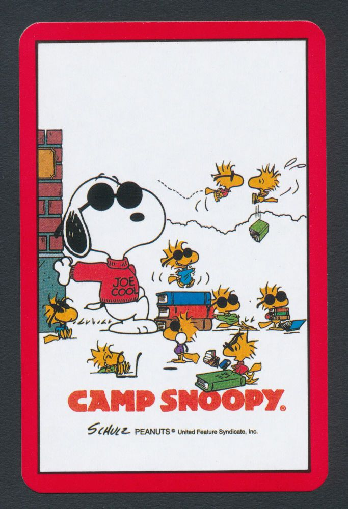 Camp Snoopy Peanuts playing card single swap jack of spades - 1 card